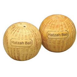Matza Ball Salt and Pepper Shakers