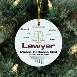 Personalized Lawyer Ornament
