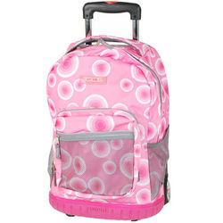 Patterned Rolling Backpack