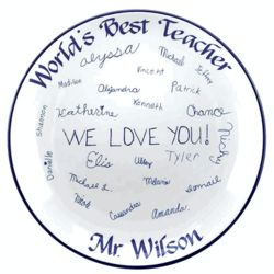 Personalized Signature Teacher's Platter
