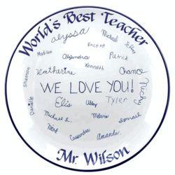 Personalized Signature Teacher's Platter