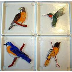 Wisconsin Birds Coaster Set