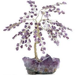 Amethyst Leaves Gemstone Tree
