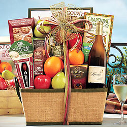 Chardonnay and Fruit Gift Basket