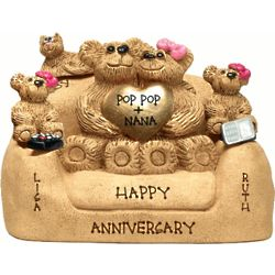 Personalized Anniversary Chair for a Couples with up to 5 Kids