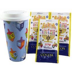 Hanukkah Travel Coffee Mug with Hot Cocoa