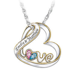 Love's Heart Personalized Birthstone Pendant