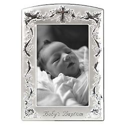 Cross And Doves Baptism Picture Frame