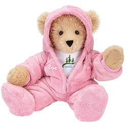 Camp Akeela Pink Hoodie Footie Teddy Bear