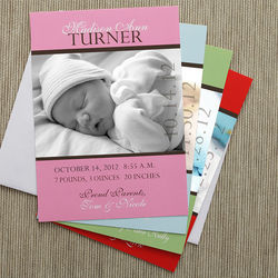 Precious Photo Personalized Birth Announcements