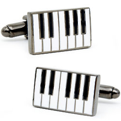 Enamel Piano Cuff Links