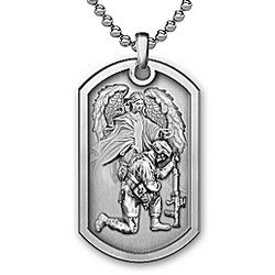 Men's Personalized Bless This Soldier Dog Tag