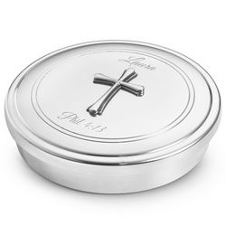 Cross Pewter Jewelry Box
