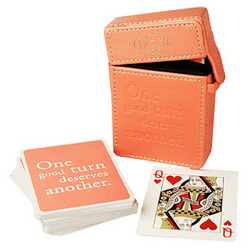 Pretty In Pink Poker Cards Set with Card Case
