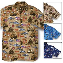 Military Print Camp Shirt