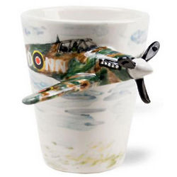 3-D Spitfire Airplane Mug
