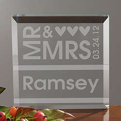 Personalized Our Wedding Day Plaque