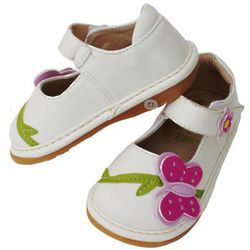 White Butterfly Squeak Me Shoes