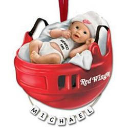 Personalized Detroit Red Wings Baby's First Christmas Ornament