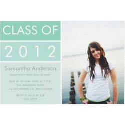 Modern Mint Photo Graduation Invitation