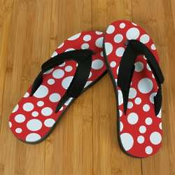 Red Polka Dot Pro Fit Sandals