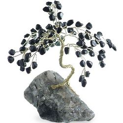 Guarded Dreams of Onyx Gemstone Tree