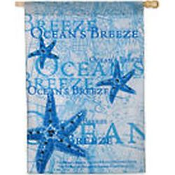 Ocean's Breeze Summer Beach Large House Flag