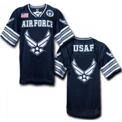 US Air Force Wings Blue Football Jersey