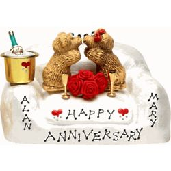 Golden Anniversary Chair for Couple Figurine