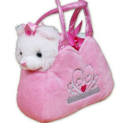 Embroidered Princess Kitten Pal Purse and Stuffed Animal