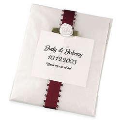 Bridal Glassine Tea Bag Favor