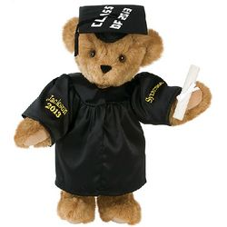 Black Gown Graduation Teddy Bear