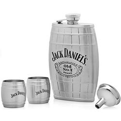 Jack Daniel's Barrel Flask and Shot Cups
