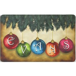 Personalized Hanging Ornaments Doormat