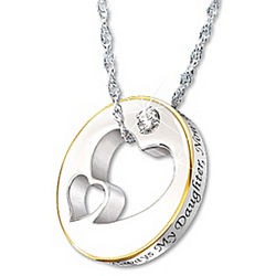 Always My Daughter, Now Too My Friend Diamond Pendant