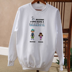 His Reasons Why Personalized Adult Sweatshirt