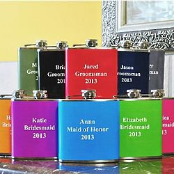 Personalized Colored Stainless Steel Flask