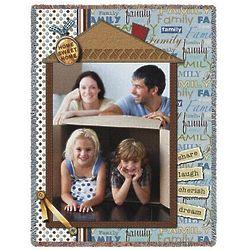 Home Sweet Home Custom Photo 70x53 Throw Blanket Kit