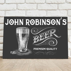 Personalized Premium Beer Canvas Print
