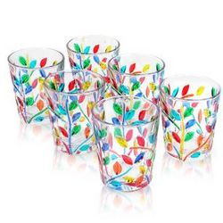 Multicolor Hand Decorated Murano Shot Glass Set