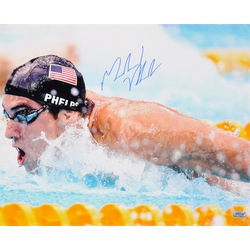 Michael Phelps 2008 Olympics Swimming Autographed Photo
