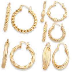 Fancy Hoop Earrings Set