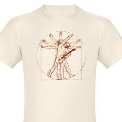 Vitruvian Rock II Organic Men's Fitted T-Shirt