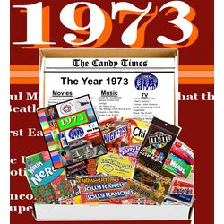 Retro 1973 Candy Gift Box with 1973 Highlights