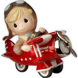 Male Pilot Airplane Figurine