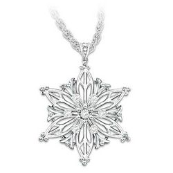 Unique as a Snowflake Diamond Pendant Necklace for Daughter