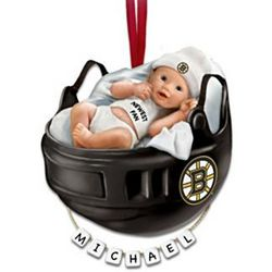 Personalized Boston Bruins Baby's First Christmas Ornament
