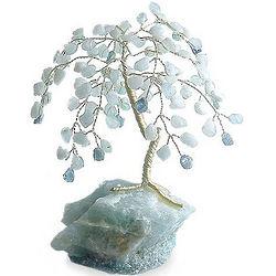 Aqua Goddess Gemstone Tree