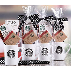 Starbucks Cocoa, Tea and Cookie Gift Mugs