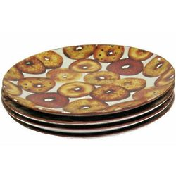 Bagel Decorated Plates
